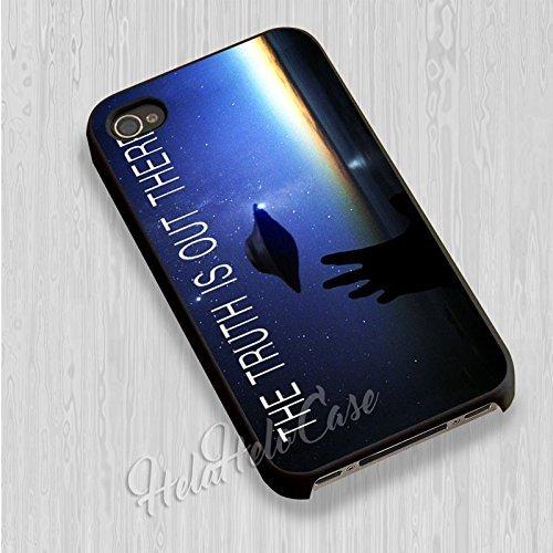 The Truth Is Out There pour Coque Iphone 6 et Coque Iphone 6s Case (Noir Boîtier en plastique dur) S9C6MV