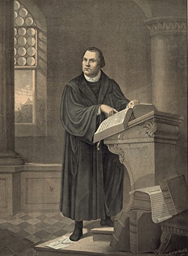 1882 Lithograph - Martin Luther (1483-1546) Ngerman Religious Reformer Luther At The Pulpit Reading From A Bible Lithograph After A Painting 1882 By Friedrich W Wehle Poster Print by (18 x 24)