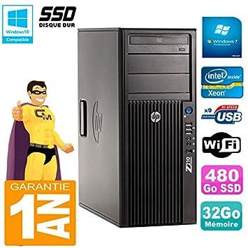 HP PC Workstation Z210 Torre Xeon E3 - 1240 RAM 32 GB SSD 480 GB ...