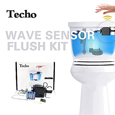 TECHO Touchless Toilet Flush Kit and Automatic Toilet Flusher