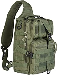 Hikingworld 20L Small Tactical MOLLE Sling Pack - Compact and Versatile - Shoulder Pack, Backpack, Chest Pack,...