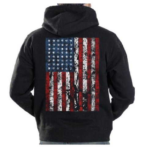American Flag Hooded Sweatshirt - 5