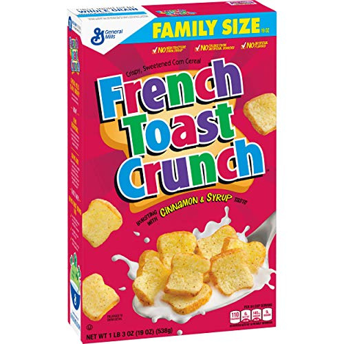 French Toast Crunch Cereal, Family Size Box, 19 Ounce (Pack of 7) (Best Cinnamon French Toast)