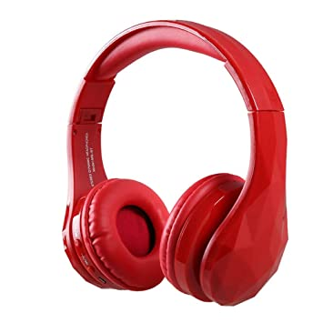Lu Auricular Bluetooth Auriculares Inalámbricos Orejeras Plegables Hi-Fi Estéreo Auriculares Cable Móvil Música Auriculares Tarjeta De FM para TV/PC/Móvil: ...