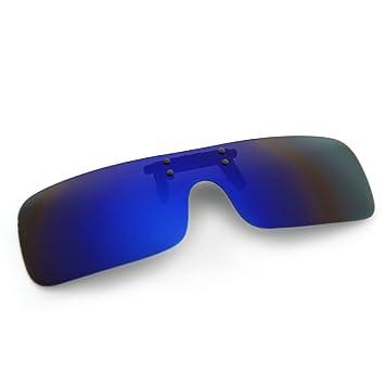 Cyxus Clip On Deportes polarizado Gafas de Sol con a Prueba de Viento Espejo Lente,