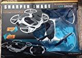 Sharper Image Rechargeable Fly and Drive Car Drone - White