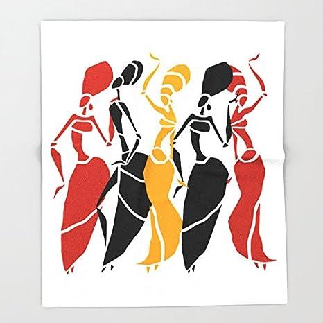 Society6 abstracto África silueta de bailarines. Figuras de mujer ...