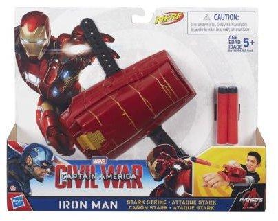 Avengers Civil War Captain America Iron Man Marvel Nerf Movie Mission Gear Stark Strike