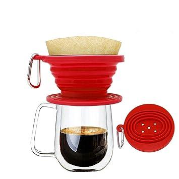 Wolecok--Cono plegable de filtro de café, de, grado alimenticio, perfecto