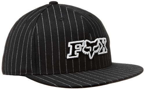 Fox Sports Pin - Fox Men's Protocol Fitted Hat, Black Pinstripe, Large/X-Large