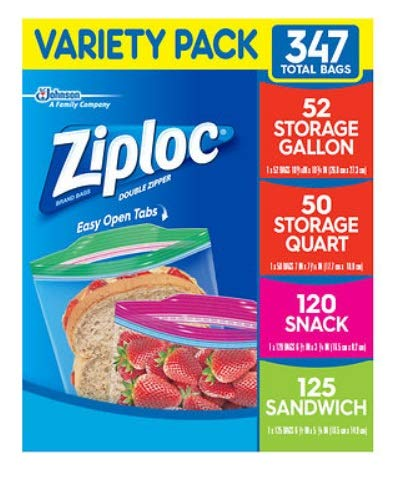 Storage Bag of 347 Variety Pack, 4 Sizes