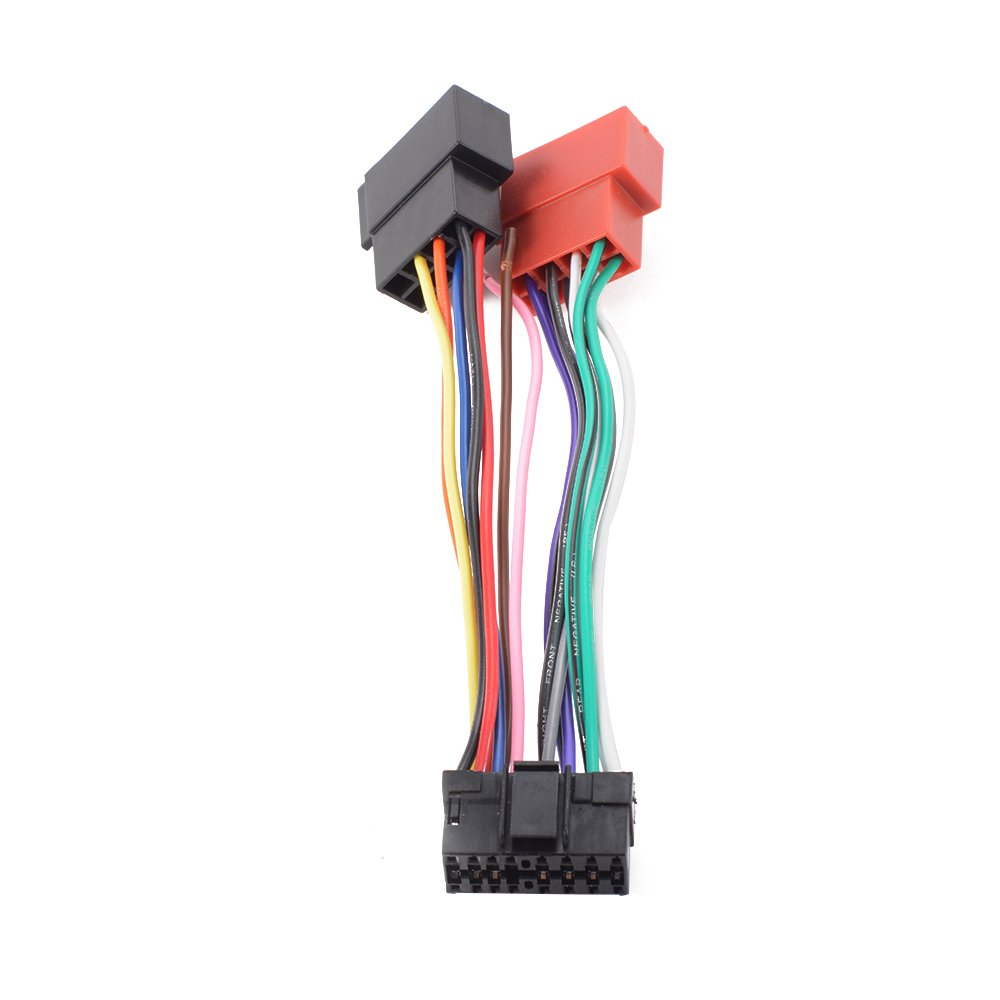 Xcsource 15cm 16 Pin Car Stereo Radio Iso Connector Replacement Pioneer Wiring Harness For 5800 Adaptor Cable Sony Stereos Head Unit Ma716 Kitchen Home