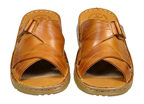 Hausschuhe Echtem Modell Buffelleder Karamell Einlage Der Aus Mit 865 Schuhe Herren Bequeme Sandalen Orthopadischen 1UqP8PvwR