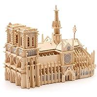 YIDADIAN Rompecabezas de Madera 3D Notre Dame de Paris ensamblado simulación Buliding Modelo de Juguete decoración del hogar