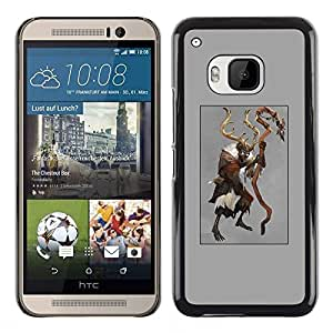 Plastic Shell Protective Case Cover    HTC One M9    Demon Halloween Poster @XPTECH