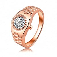 GDSTAR rings for women Creative Design 18K Rose Gold Plate Austrian Crystal Watch Ring Rings Jewelry