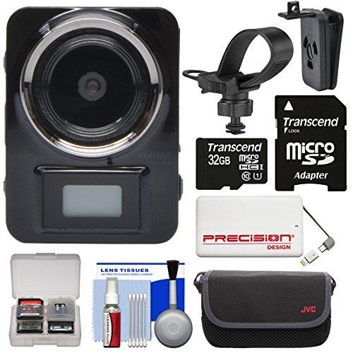 Vivitar DVR906HD HD LifeCam Digital Video Camera Camcorder Body Cam with 32GB Card + Case + 5000mAh Power Bank Charger + Kit