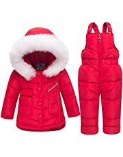 Degrees Winter Girl Clothes Warm Baby Overalls Clothing Sets Ski Suits Children Parka Down Jackets Coats Trousers Jumpsuit