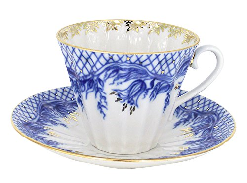 Lomonosov Porcelain Set Tenderness 2pc Cup and Saucer 7.95 oz/235 ml