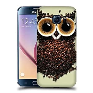 Case Fun Coffee Bean Owl Snap-on Hard Back Case Cover for Samsung Galaxy S6 by icecream design
