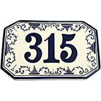 CERAMICHE D'ARTE PARRINI - Italian Ceramic Art Pottery Tile Custom House Number Civic Address Plaques Hand Painted Made in ITALY Tuscan