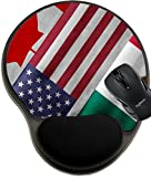 MSD Natural Rubber Mousepad wrist protected Mouse Pads/Mat with wrist support design 32559273 Close up of the flags of the North American Free Trade Agreement NAFTA members on textile texture NAFTA is