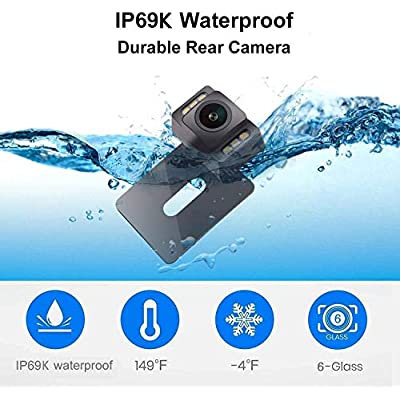 Yakry HD 960P Backup Camera for Car/Truck/SUV Rear View Reversing Intelligent Dynamic Trajectory Camera with IP 69K Waterproof Mount Hidden Guide Line ON/OFF: Car Electronics