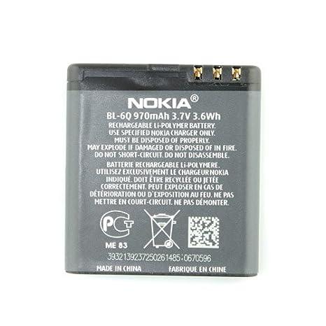 nokia bl 6q 970mah lithium ion battery bl 6q amazon co uk rh amazon co uk 6 Qt Ice Cream Freezer 6Q Chromosome Abnormality