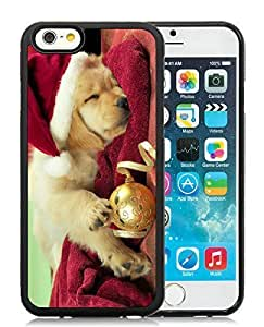 2014 Latest Case For Iphone 4/4S Cover Case,Christmas Dog Black Case For Iphone 4/4S Cover PC Case 45 by ruishername