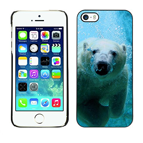 Omega Case PC Polycarbonate Cas Coque Drapeau - Apple iPhone 5 / 5S ( Cool Polar Bear )