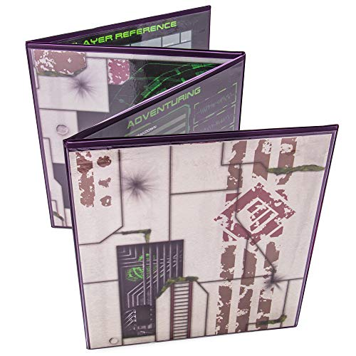 Tabletop Master Control - The Master's Matrix 4-Panel Customizable GM Screen with Free Inserts | Sci-Fi Themed Dry Erase, Dungeon & Game Master Accessory for Tabletop RPG Campaigns (Purple)