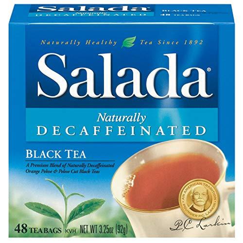 Salada Naturally Decaffeinated Black Tea, 48 Tea Bags (Pack of 12)