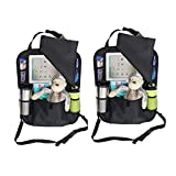 2 Pack Backseat Car Organizer with iPad and Tablet Holder - Stylish, Durable and High Quality (2 Pack)