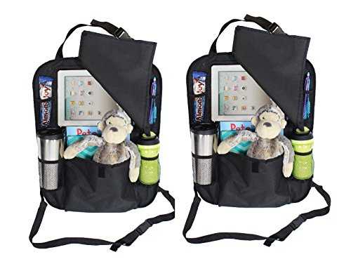 2 PACK Backseat Car Organizer with holder for iPAD or Tablet