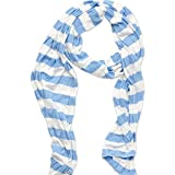 Tickled Pink Women's Game Day Sports Team Apparel Scarf or Wrap, Jersey Stripe/14x75, 14 x 75