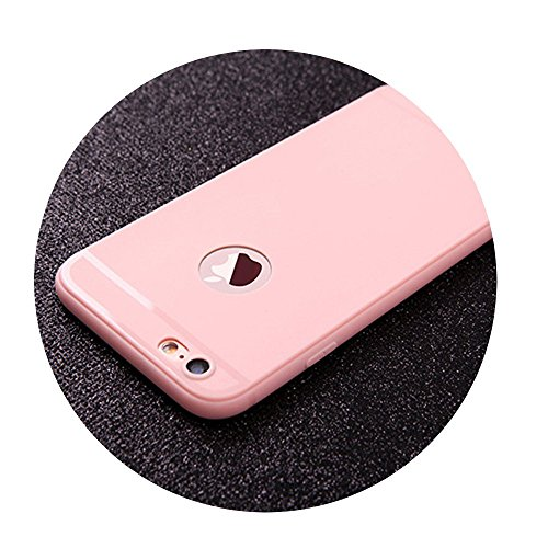 (Coque iPhone 7 Case iPhone 6 Case Silicone TPU Luxury Ultra Thin Back Cover pink For iPhone 6Plus 6SP )