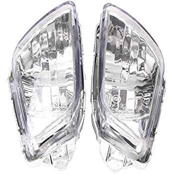 Amazon.com: GZYF Clear Front Turn Signal Lens Indicator ...