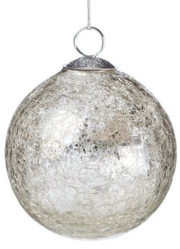 Buy Sullivans Silver Crackle Glass Ball Ornament 4 Online At Low Prices In India Amazon In