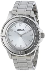 Versus by Versace Men's SGM010013 Tokyo Stainless Steel Silver Sunray Dial Luminous Hands Watch