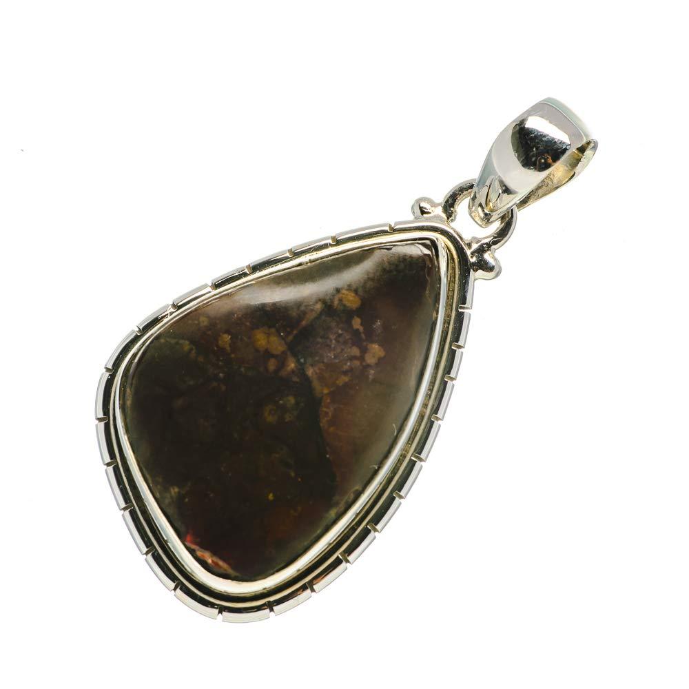 Vintage PD700971 Ana Silver Co Boulder Opal 925 Sterling Silver Pendant 1 3//4 Bohemian Handmade Jewelry