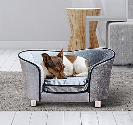 PawHut – Sofá Cama Caseta de Lusso para Mascotas Perros Gatos de Peluche 69 x 49