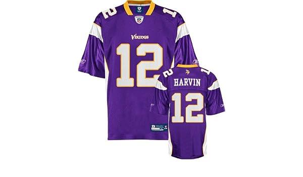 Reebok Minnesota Vikings Percy Harvin 12 Purple Authentic Jerseys Sale  Amazon.com Reebok Minnesota Vikings Percy Harvin Youth (8-20) Replica  Jersey ... 6475c7c26