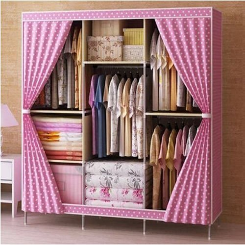 Generic New Portable Triple Clothes Closet Wardrobe Bedroom Furniture Clothing Armoires by Generic