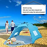 Sun-shelter Beach Tent 2 or 3 Person Automatic Camping Tent with UV 50 Protection Beach Shade for Outdoor Activities