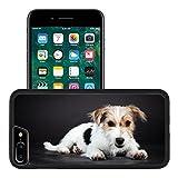Liili Apple iPhone 7 plus iPhone 8 plus Aluminum Backplate Bumper Snap iphone7plus/8plus Case Jack russell puppy isolated on black background Studio shot Photo 20387867
