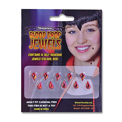 Bristol Novelty BA863 Vampiress Blood Drop Jewels, One Size -