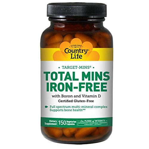 Country Life Target Mins Iron-free Total Mins Multi-mineral Complex, 150-Count - No Iron Multi Mineral Complex