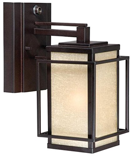 Vaxcel USA RBOWD050EB 1 Light Small Mission Outdoor Wall Lamp Lighting Fixture in Bronze, Glass