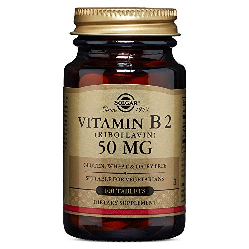 Solgar - Vitamin B2 (Riboflavin) 50 mg, 100 Tablets (Vitamin B2 50mg)
