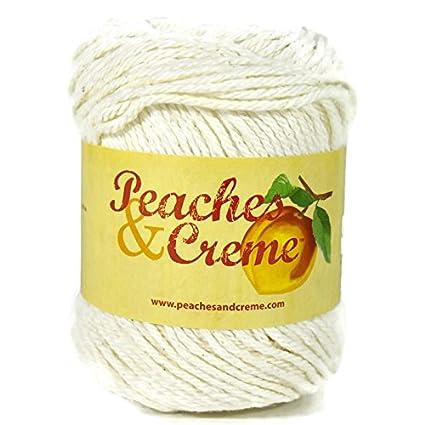 Amazon Peaches Creme Cream Cotton Yarn Ecru 4040 Oz Inspiration Peaches And Cream Yarn Crochet Patterns